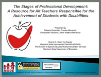 Stages of Professional Development for All Teachers Teaching Students with Disabilities