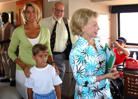 Dr. Grasmick, First Lady Kendel Ehrlich and son Drew