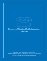 Directory of Maryland Public Education 2012-2013